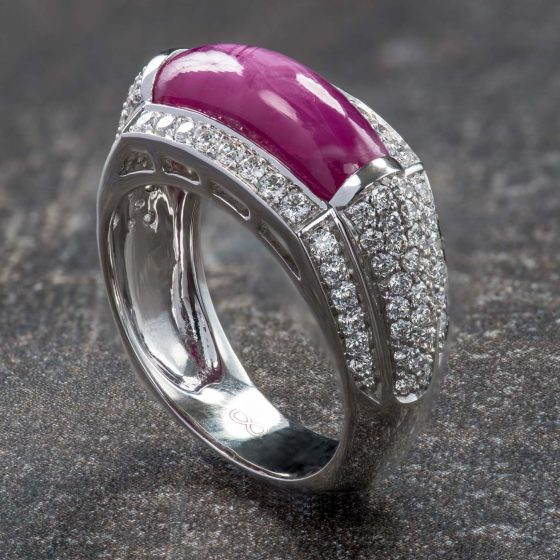 Jewellery Photography - Gold & Pink Stone Ring