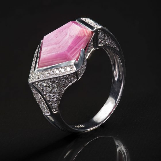 Jewellery Photography - Pink Stone Ring